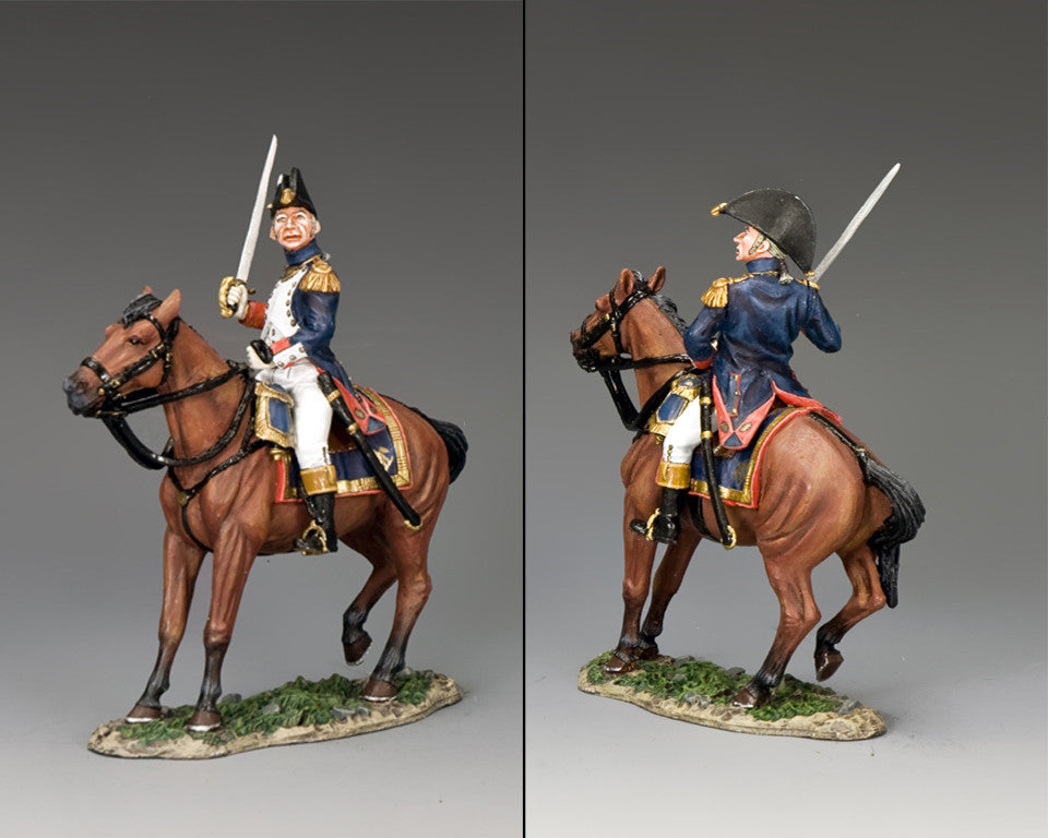 NA367 - Mounted Old Guard Officer with Sword. K&C Napoleonic French - Piers Christian Toy Soldiers - 2