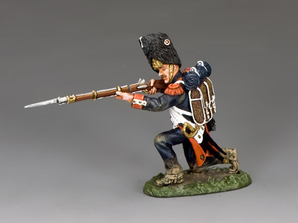 NA369 - The Old Guard, Kneeling Firing (With Hat). K&C Napoleonic French - Piers Christian Toy Soldiers