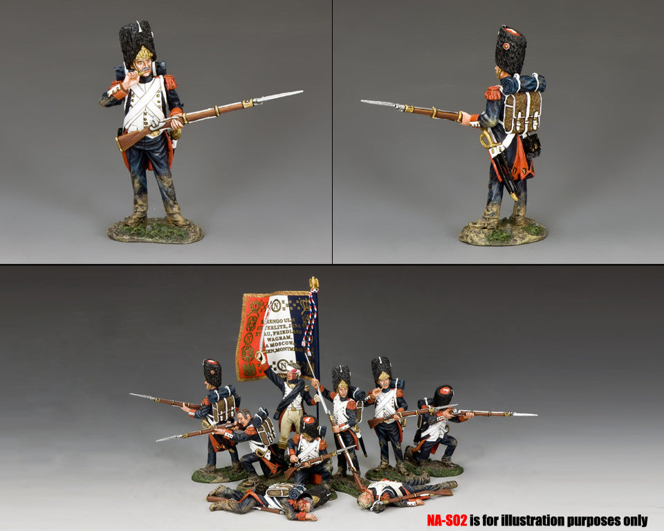 NA373 - Standing biting cartridge. K&C Napoleonic French - Piers Christian Toy Soldiers - 2