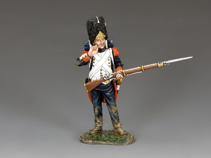 NA373 - Standing biting cartridge. K&C Napoleonic French - Piers Christian Toy Soldiers - 1
