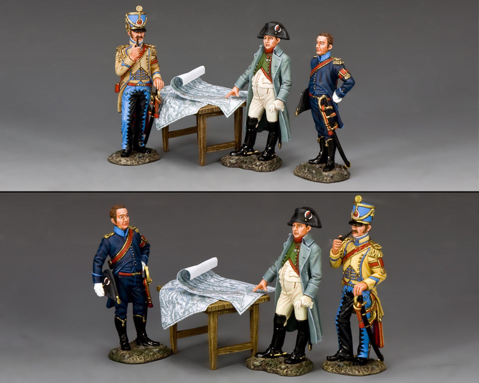 NA375 - The Emperor & His Aide de Camps. K&C Napoleonic French - Piers Christian Toy Soldiers - 2
