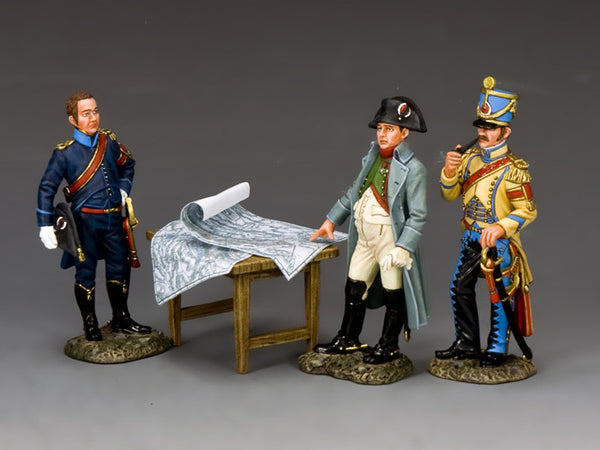 NA375 - The Emperor & His Aide de Camps. K&C Napoleonic French - Piers Christian Toy Soldiers - 1
