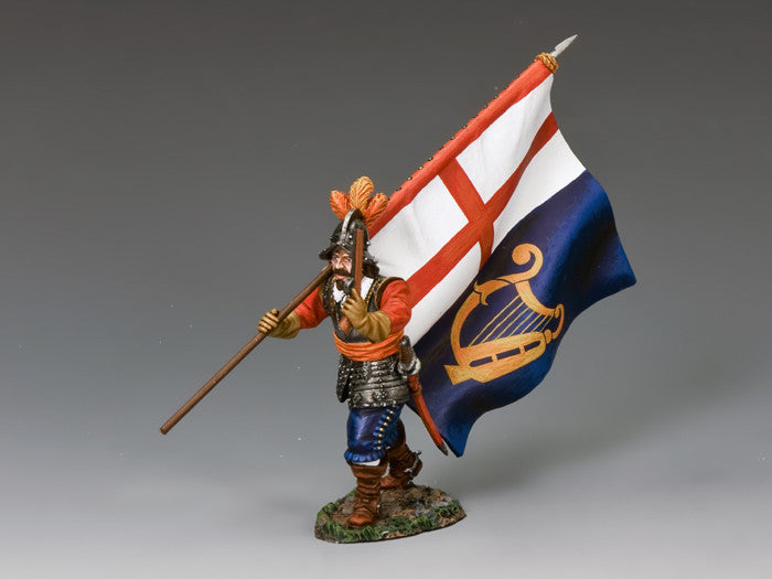 PnM066 - Commonwealth Flag Bearer, English Civil War, Pike & Musket - Piers Christian Toy Soldiers