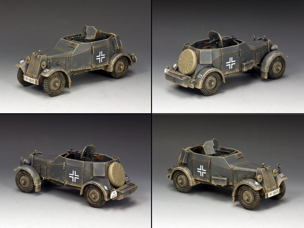 WS246 - Adler Kfz. 13 Armoured Car WWII Classic Germans - Piers Christian Toy Soldiers - 2