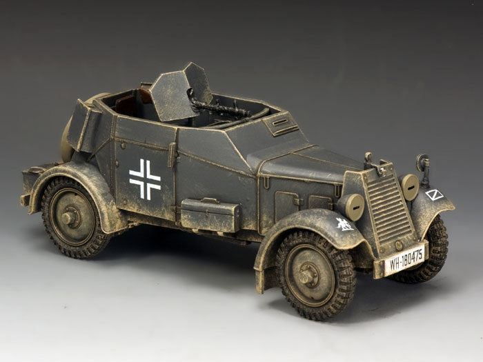 WS246 - Adler Kfz. 13 Armoured Car WWII Classic Germans - Piers Christian Toy Soldiers - 1