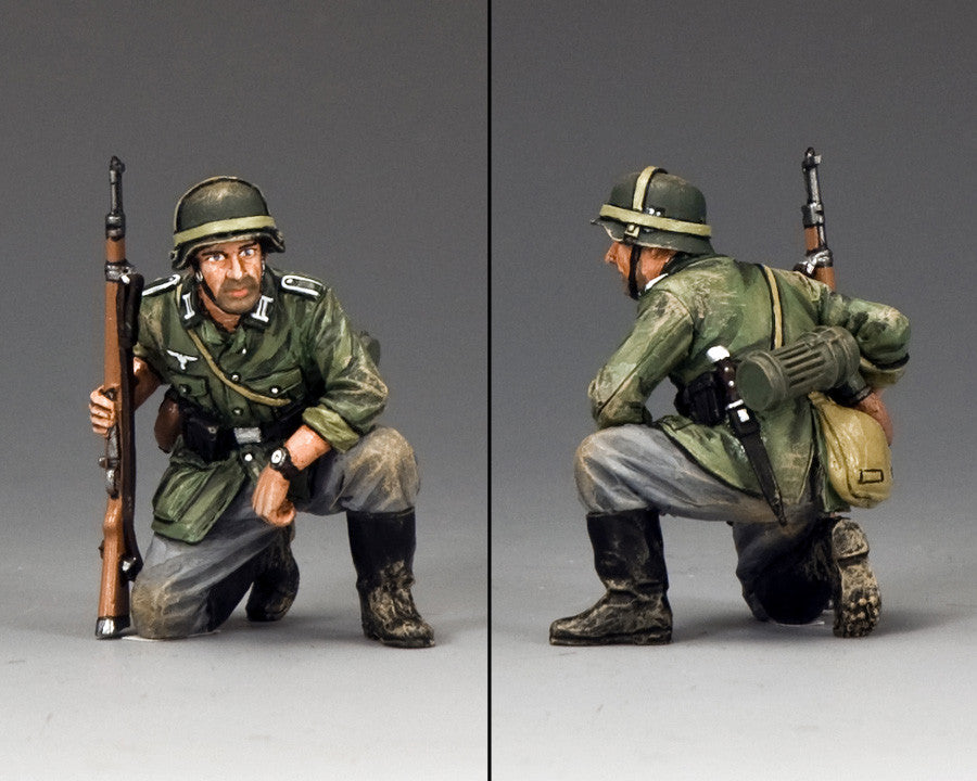 WS289 - Kneeling with Rifle, WWII Classic Germans collection - Piers Christian Toy Soldiers - 2