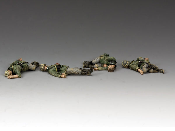 WS294 - Four fallen Wehrmacht infantrymen, WWII Classic Germans - Piers Christian Toy Soldiers - 1
