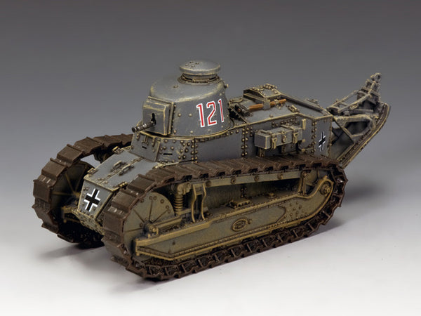 WS319 - Renault FT-17 #121, WWII Classic Germans from King & Country - Piers Christian Toy Soldiers - 1