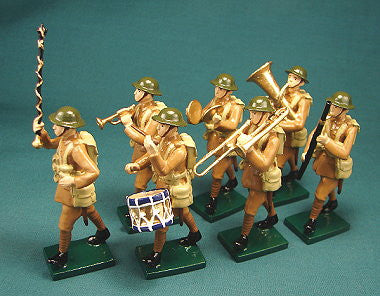 BG299 - British Infantry Military Band, Beau Geste WWI - Piers Christian Toy Soldiers