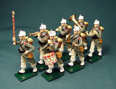 BG307 - Italian Infantry Jagers Military Band in Winter Uniform by Beau Geste WWI - Piers Christian Toy Soldiers