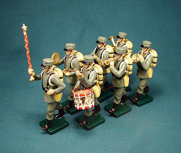 BG313 - Italian Infantry Military Band in Winter Uniform by Beau Geste WWI - Piers Christian Toy Soldiers