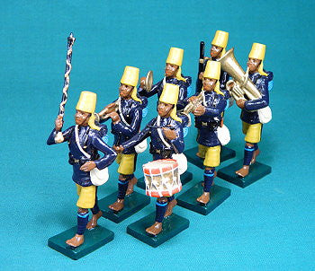 BG331 - British Colonial (African) Infantry Military Band  by Beau Geste WWI - Piers Christian Toy Soldiers