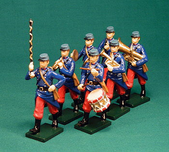BG332A - French Infantry Military Band of 1915 by Beau Geste WWI range - Piers Christian Toy Soldiers