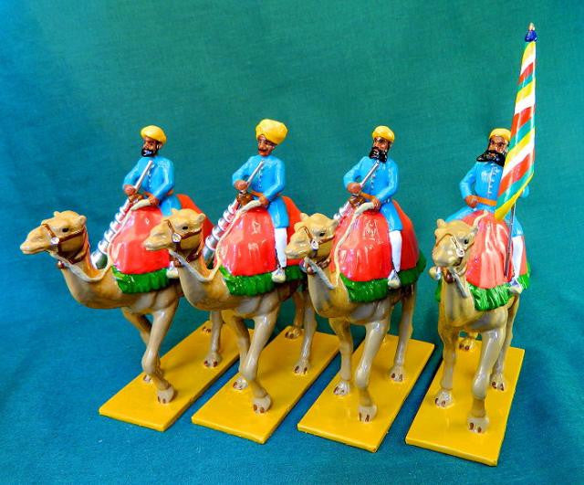 BG340 - Camel Escort from Alwar with Standard from Beau Geste, Delhi Durbar - Piers Christian Toy Soldiers