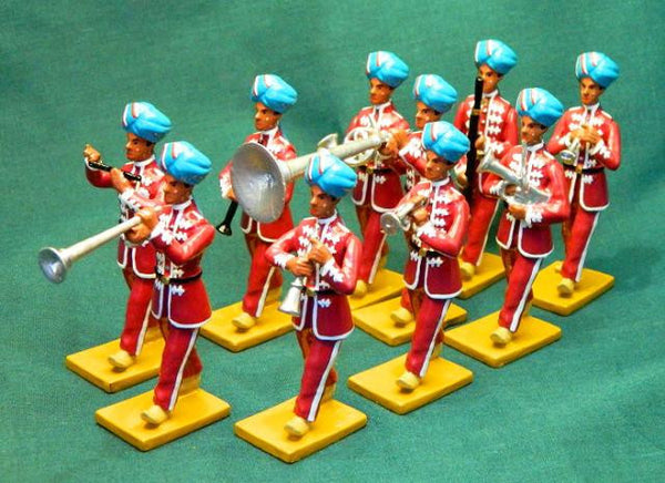 BG345 - Music Band from Farikdot for the Delhi Durbar of 1903 from Beau Geste - Piers Christian Toy Soldiers