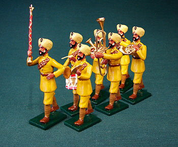 BG350 - WWI Indian Military Band, British Army by Beau Geste WWI - Piers Christian Toy Soldiers