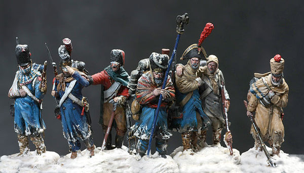 MMSP2 - Set 2 of seven retreating French Soldiers. Retreat from Russia by Manes Marzano - Piers Christian Toy Soldiers - 1