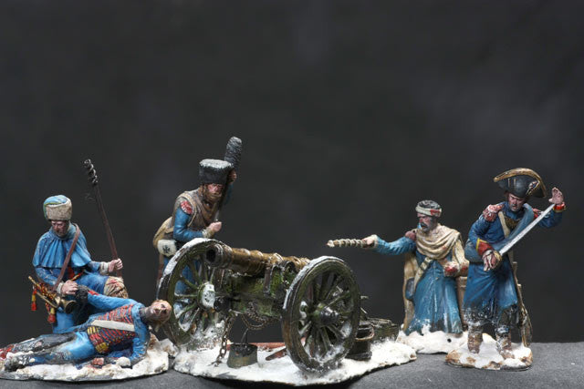 MMSP3 - French Cannon Rear Guard from the Retreat from Russian by Manes Marzano - Piers Christian Toy Soldiers - 1