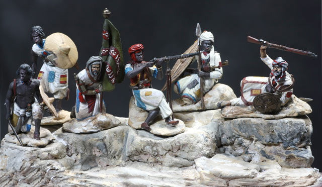 MMSP5 - Dervish Warriors, Sudan Wars from Manes Marzano - Piers Christian Toy Soldiers