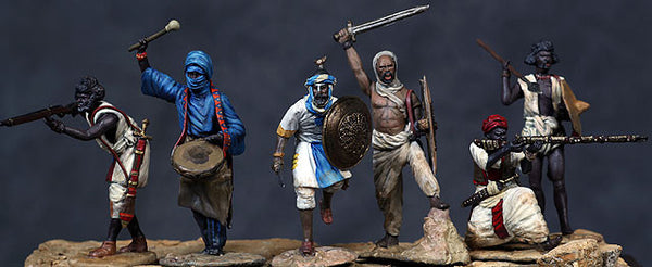 MMSP7 - Dervish Warriors, Sudan War made by Manes Marzano - Piers Christian Toy Soldiers