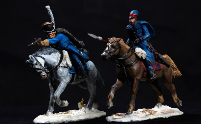MMSP9 - Charging Russian Cavalry set 2, Retreat from Russia by Manes Marzano - Piers Christian Toy Soldiers