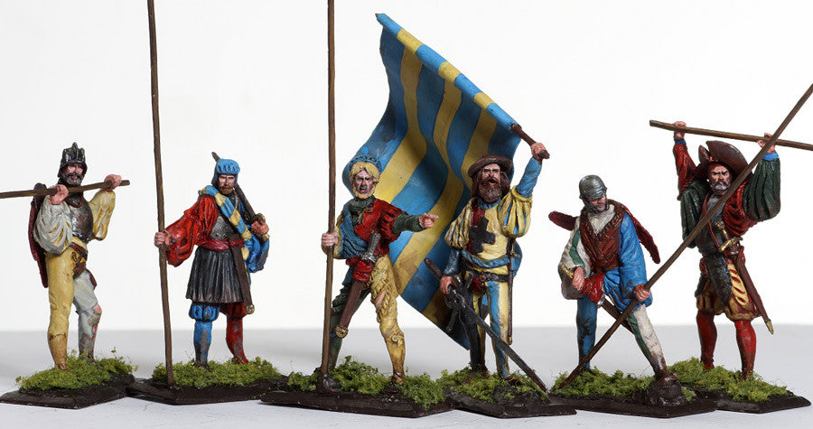 MMSP13 - Landsknecht Infantry with Standard from Manes Marzano - Piers Christian Toy Soldiers