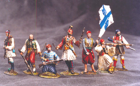 MM12 - Greek Soldiers of the Independence Greek War made by Manes Marzano - Piers Christian Toy Soldiers