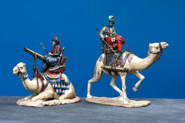 MM60-2  - Two Turkish Mounted on Camels with Cannon, Manes Marzano Napoleonic - Piers Christian Toy Soldiers