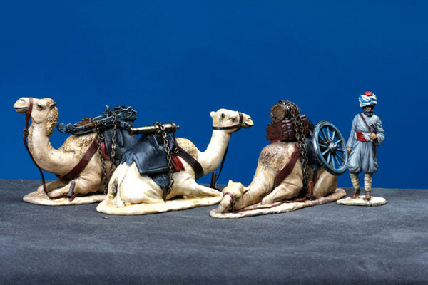 MM60-4 Turkish Soldier with Camels and Cannon, Manes Marzano Napoleonic - Piers Christian Toy Soldiers - 1