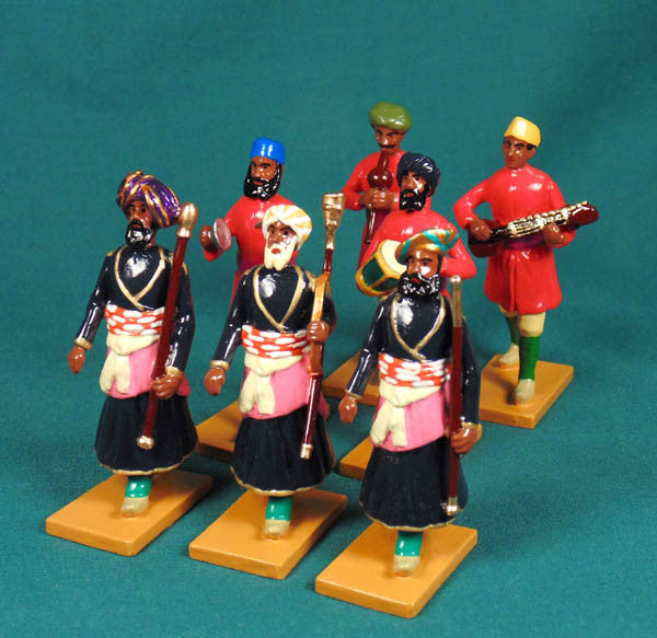 BG445 Mace Bearers and Musicians of Rajgarth from Beau Geste Delhi Durbar