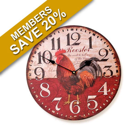 Rooster Design Clock