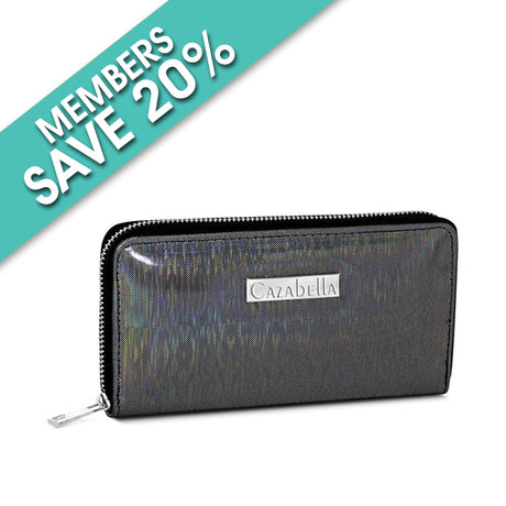 Black Shimmer Patent Purse