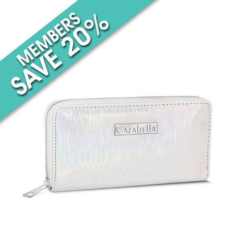 Silver Shimmer Patent Purse