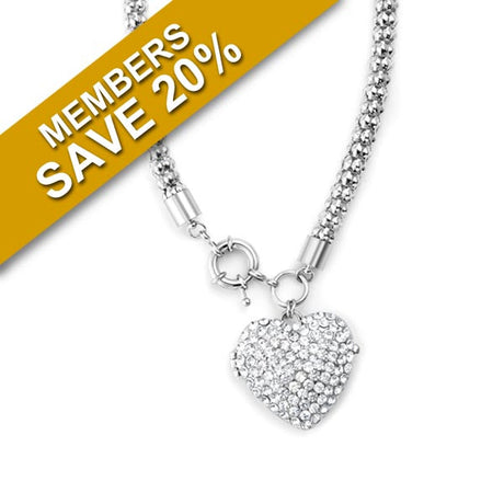 Cazabella Heart Shaped Necklace