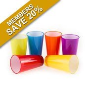 Colourful 350ml Glasses Set