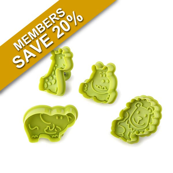 Anzo 4Pc Mini Safari Cookie Cutter