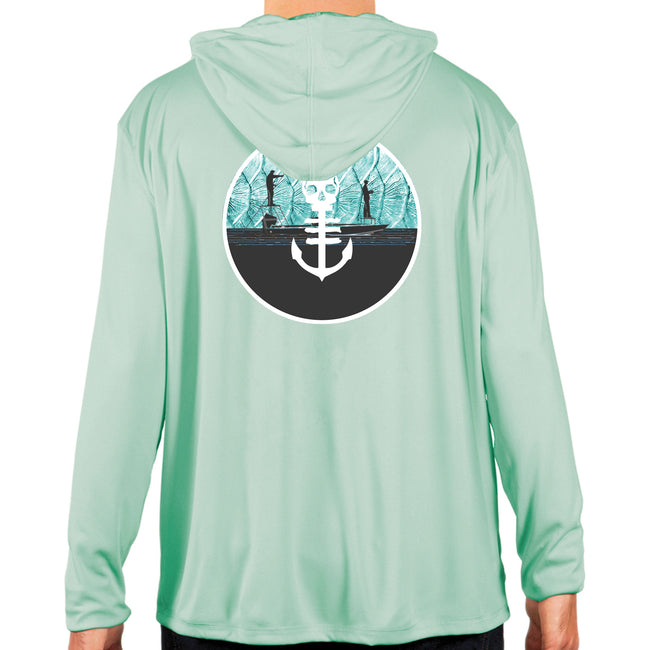 Gettin Guided UPF Performance Hoodie - Seagrass