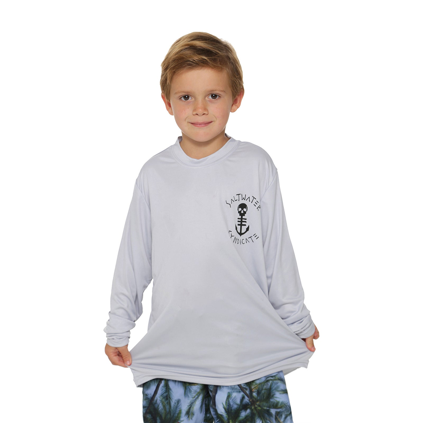 Youth Performance UPF- Silver/Black - Saltwater Syndicate -  - 2