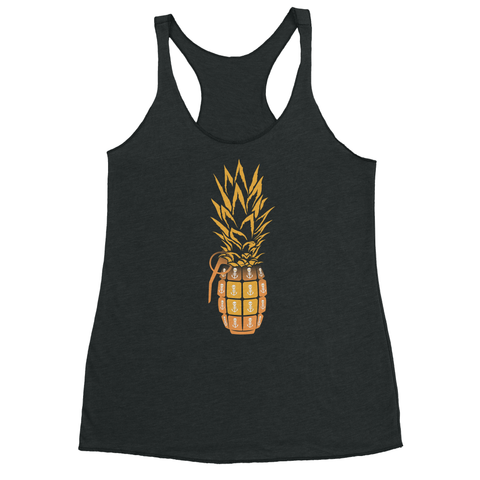 Bonefish Racerback Tank - heather grey