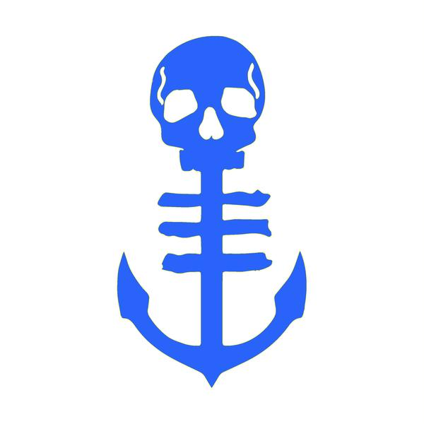 Anchor Decal - Blue