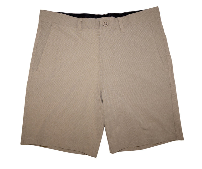 Front of Men's Sand Colored Walk Shorts