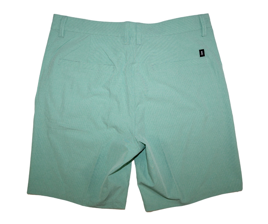 Back of Men's Teal Walk Shorts