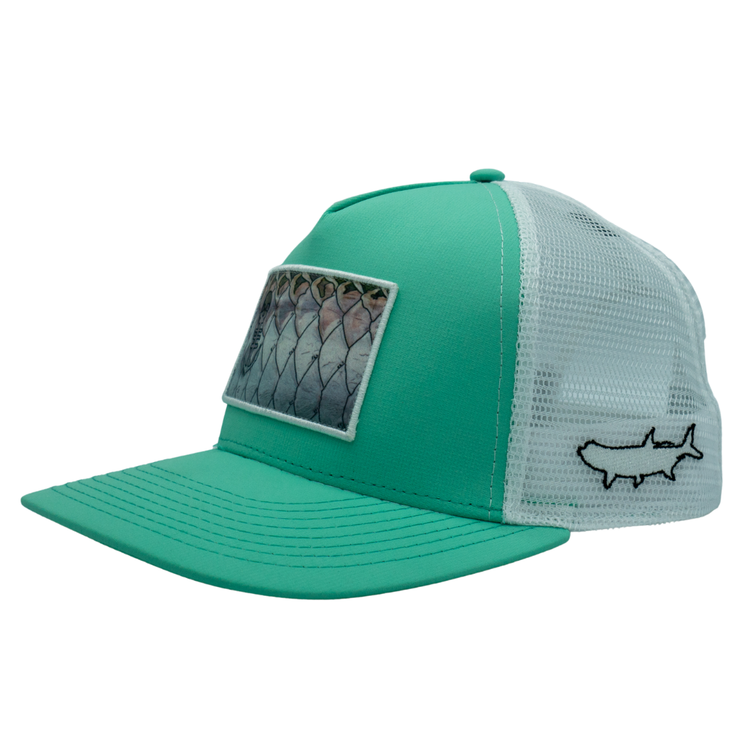 NEW! Tarpon Scales Patch hat - Sea Foam
