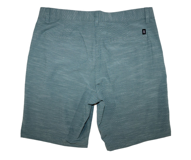 Back of Men's Palmetto Blue Walk Shorts