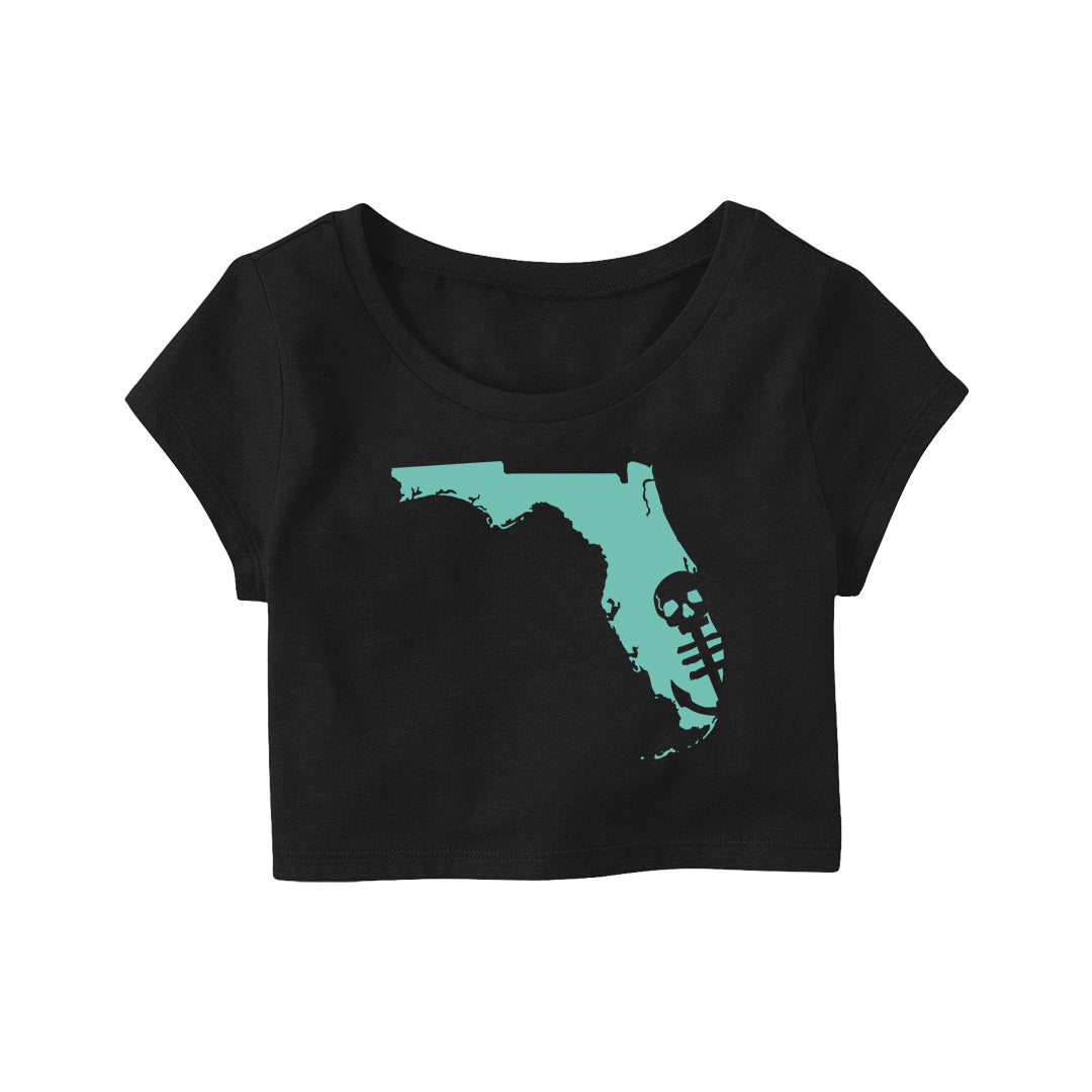 Florida Crop Top - Black