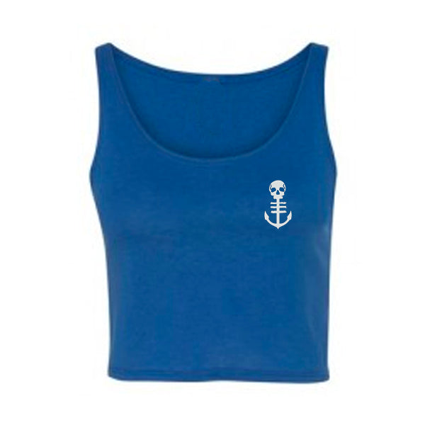 Crest Crop Top - Blue