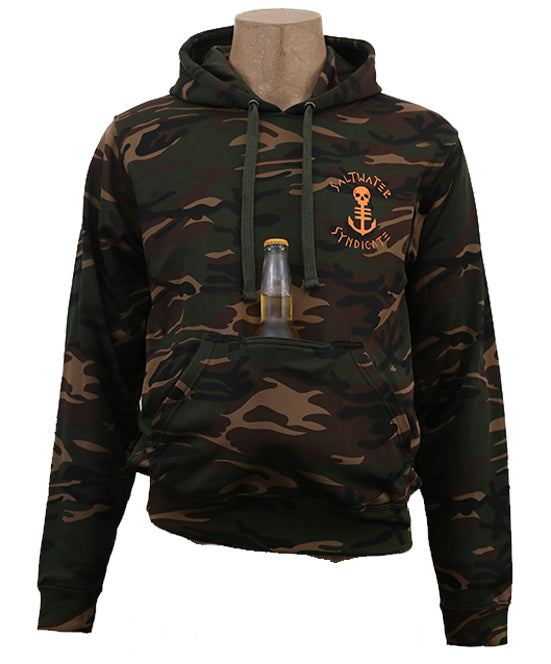 Beer Coozie Camo Pullover Hoodie