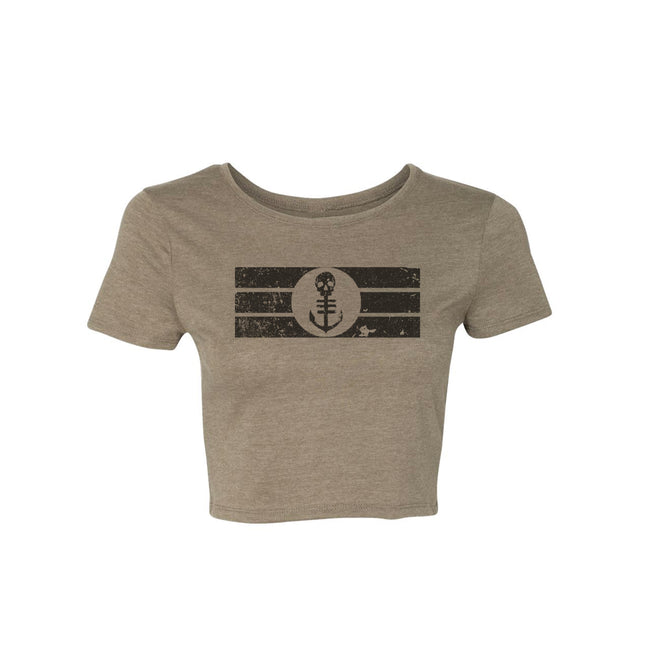 Women's Olive Cropped T-Shirt