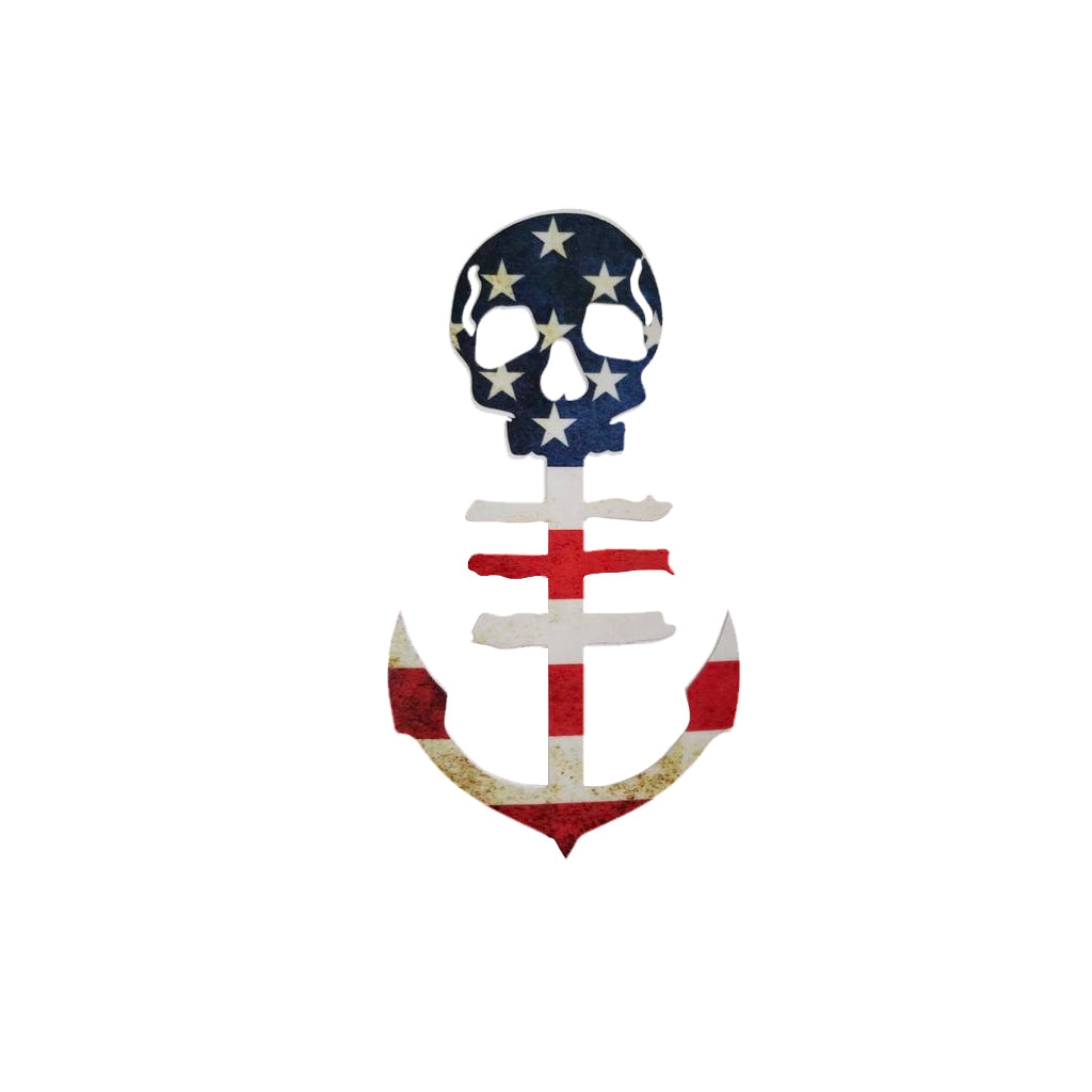 USA Flag Red, White & Blue Anchor Decal
