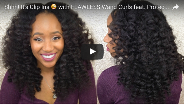Kinky Curly Clip Ins & Wand Curls by @Aseamae